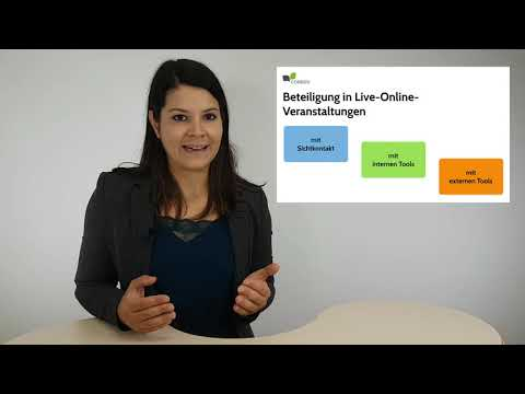 Beteiligung in Webinaren und Live-Online-Veranstaltungen